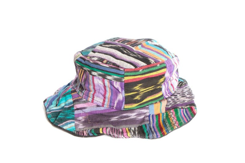 96c2b4e5ad639 90s hat COLOR BLOCK keith haring style bucket hat SOUTHWEST