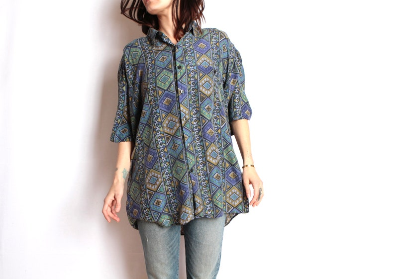64510f8b SILK versace style 90s abstract SURF slouchy WILD baroque   Etsy