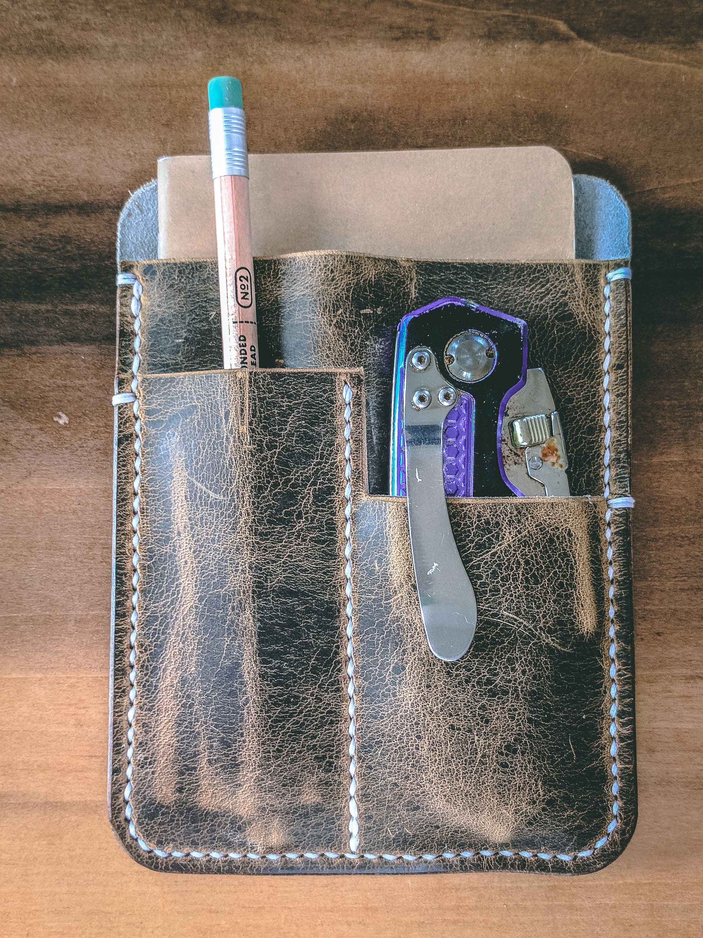 Leather Field Notes Edc Notebook Cover