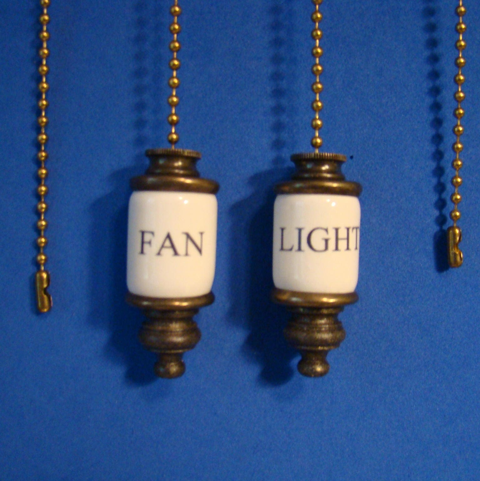 Fan Amp Light Ceiling Fan Pull Chain Set Of 2 Pull Chains Etsy