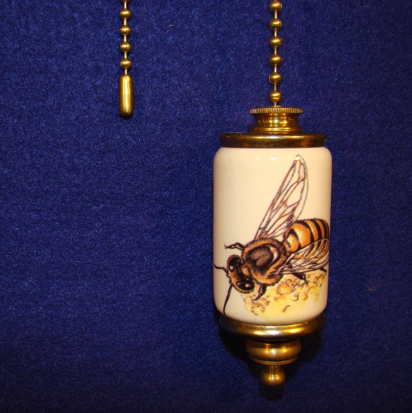Honey Bee Fan Amp Light Ceiling Fan Pull Chain Etsy