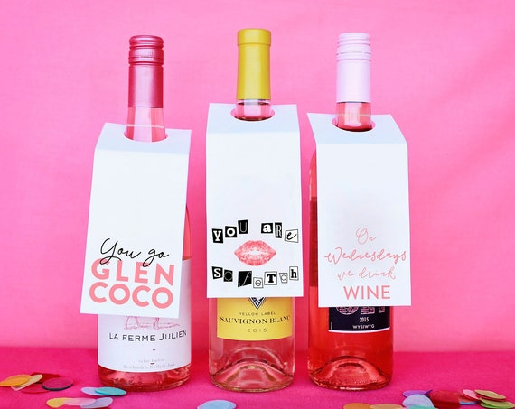 Funny Wine Gift, Mean Girls You Can't Sip With Us, Regina George You Go Glen Coco, Wine Pun Gift For Her, Gift Under 5, DIY Printables Wine