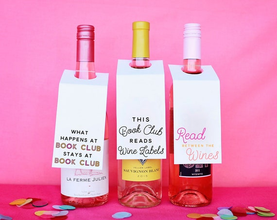 Book Club Wine Club, Printable For Book Clubs, Read Between The Wines, Wine Labels For Book Club, Mom Book Club, Decor For Novel Club, Books