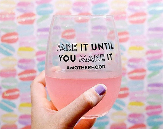 Mom Gift, Wine Glasses With Sayings, Motherhood Wine Glass, Wine Gift For Her, Gift For Best Friend, Wine Cup, Wine Glasses Gift For Her