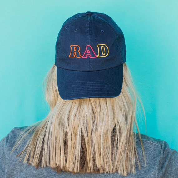RAD Hat For Girl, Mom Hat With Sayings, Quote Hat, Dad Hat For Women, Gift For Her, Mom Gift For Her, Embroidered Hat, Stay Rad Dad Hat