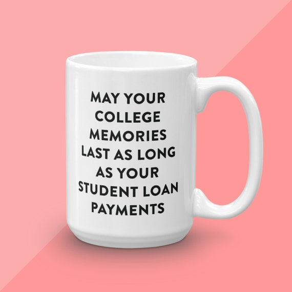 College Graduation Gift, Graduation Gift, Get Down With Your Grad Self, Graduation Party Decor, Funny Graduation Gift For Him, Student Loans