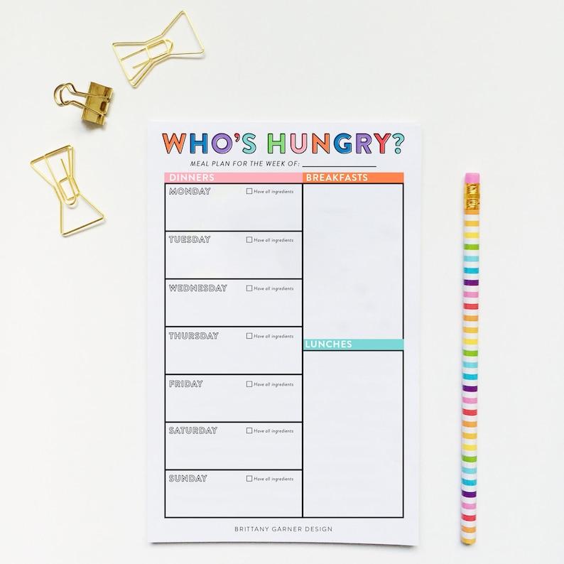 Weekly Meal Planner Meal Planner Meal Planning Printable image 0