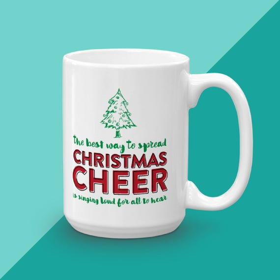 Holiday Mug, Buddy The Elf, Christmas Coffee Mug, Funny Mug, Unique Coffee Mug Gift, Christmas Cheer, Christmas Lover Gift, Gift For Her