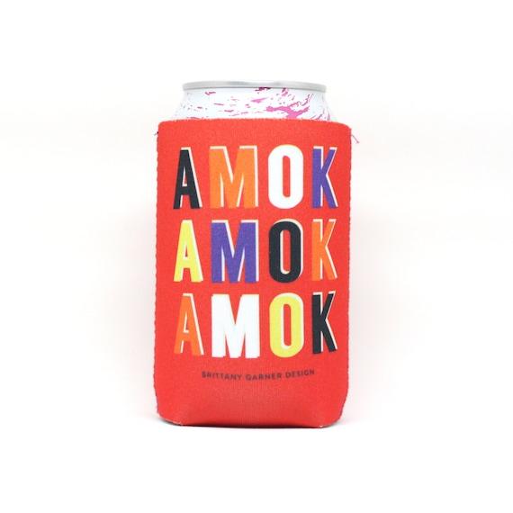 Hocus Pocus Sanderson Sisters, Beer Cooler, Amok Amok Amok, Fun Cozie, beer kozy, Halloween decor, Gift For Movie Lovers
