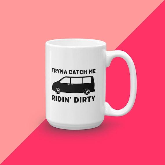 Mugs With Sayings, Ceramic Coffee Cup, Unique Mug Gift, Gift For Mom, Rap Mug, Funny Mugs For Moms, Gift For Her, Minivan Mafia, Coffee Mug