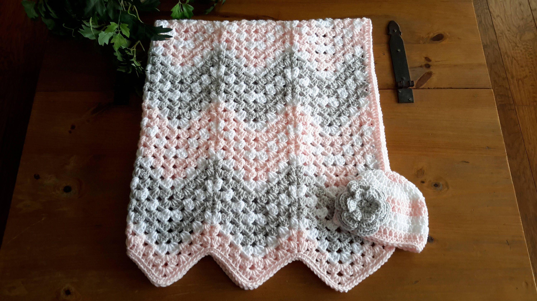 ripple baby girl blanket chevron blanket crochet baby girl