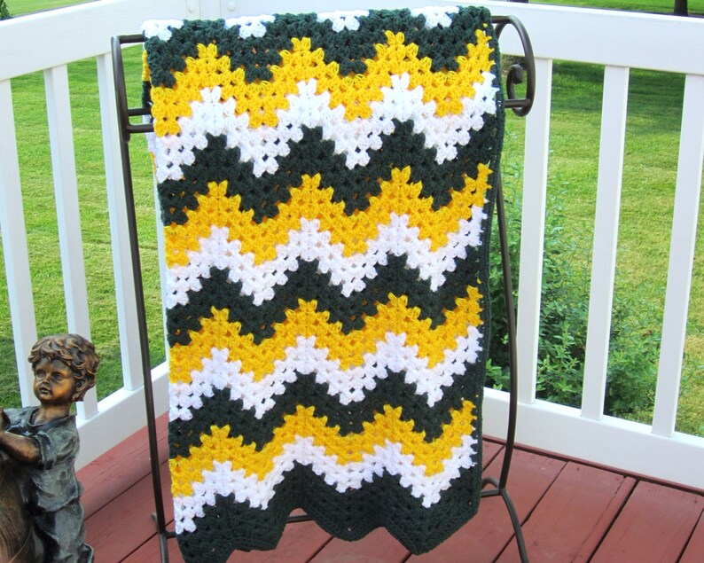 4ca21057 Crochet Packers Blanket – 2019 Inspirational Throw Blankets