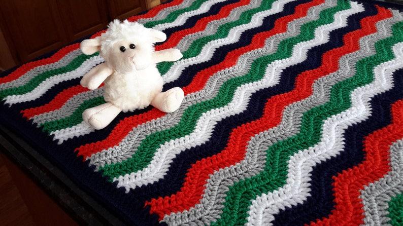 baby boy nursery orange navy gray white green QUICK SHIPPING handmade baby boy dinosaur nursery Crochet baby blanket crib blanket