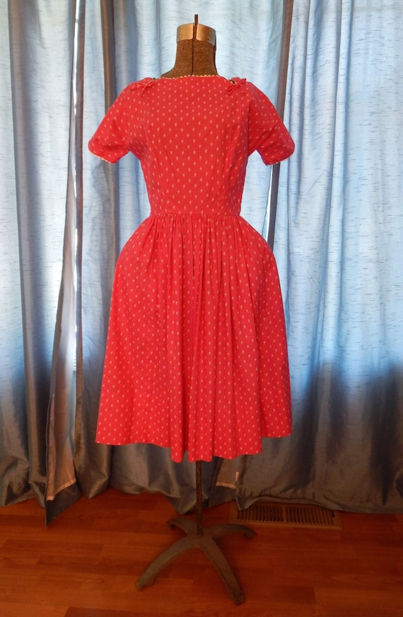 1950's Hot Pink Dress by Lanz