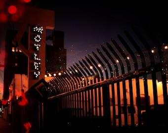 Downtown Los Angeles - photo print - fine art photo montage