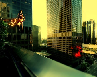 Light Theory #3 - Surreal Fine art  photography - City float series - photo print unframed