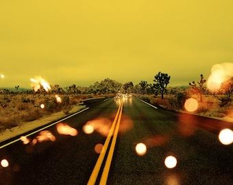Light Theory #6 - Surreal Fine art landscape photograph - Desert Road -  Photo Print