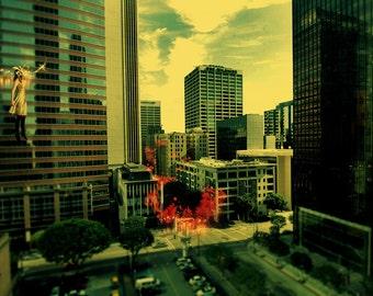 Light Theory #10 - Fine art  photography - City float series - photo print