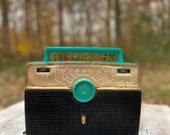 Vintage Teal Zenith Radio