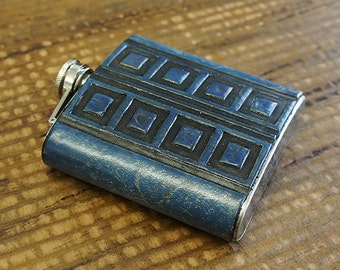 Stainless Steel & Leather Tardis Flask (Doctor Who)