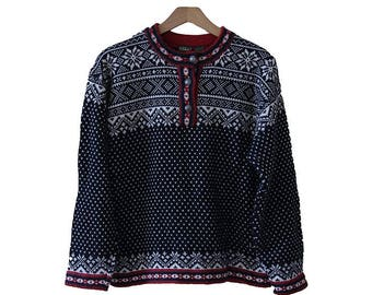 Vintage L.L. Bean Fair Isle Sweater Women's Size Small