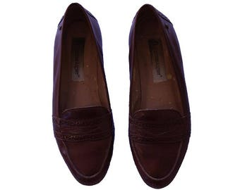 Vintage Etienne Aigner Leather Loafers Women's Size 6