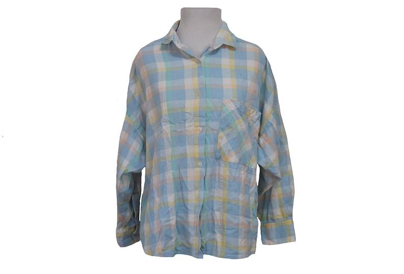 9182f45e422c9 Women's Vintage Pastel Flannel Shirt Size Large