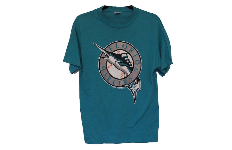 c976620c384 Vintage 1991 Florida Marlins T-shirt Size Medium