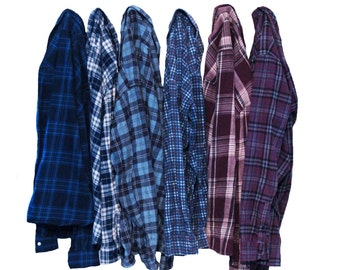 Distressed Oversize Flannel Shirt