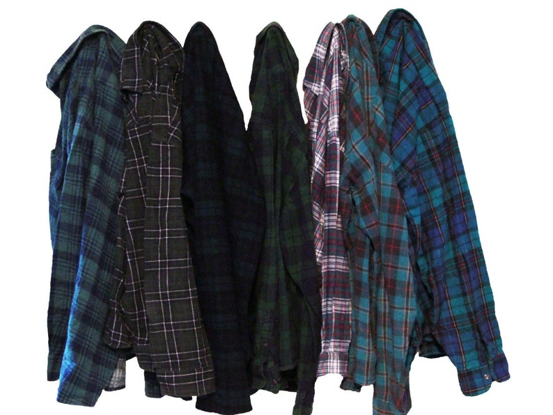 Distressed Oversize Flannel Shirt image 1