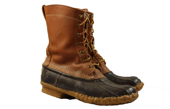 sale retailer fbd10 54f01 Jahrgang LL Bean Maine Jagd Schuh Outdoor-Stiefel Braun Damen Größe 9