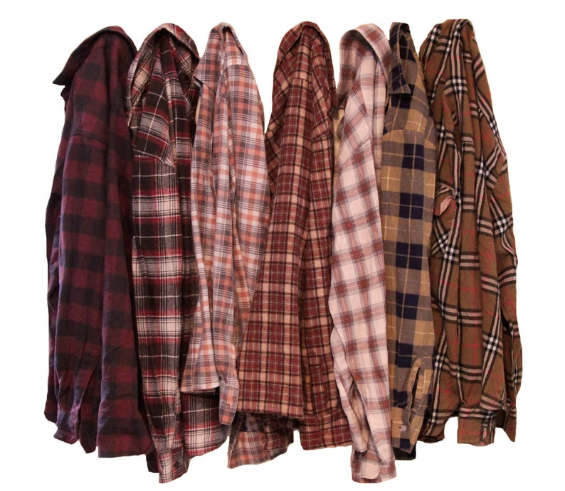Distressed Oversize Flannel Shirt image 0