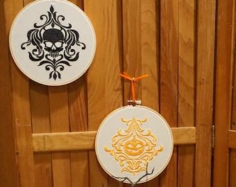 Decorative Wall/Halloween Embroidery Hoop Hangings