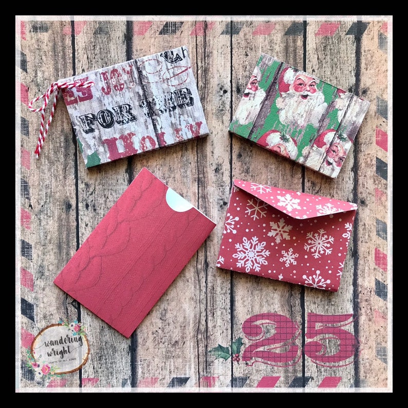 gift card holders Holiday gift card boxes gift card sleeves