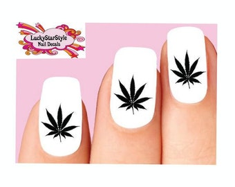 Pot Leaf Nail Art Etsy
