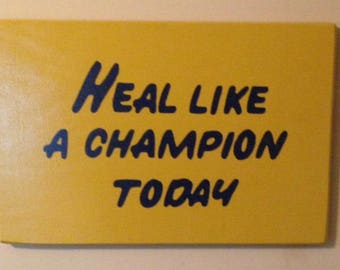 """CUSTOM 18""""x 23""""  Play Like a Champion Today Sign *Officially Licensed Product*"""