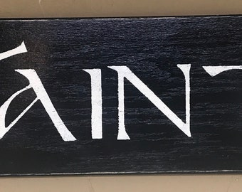 Slainte Irish Sign Blk