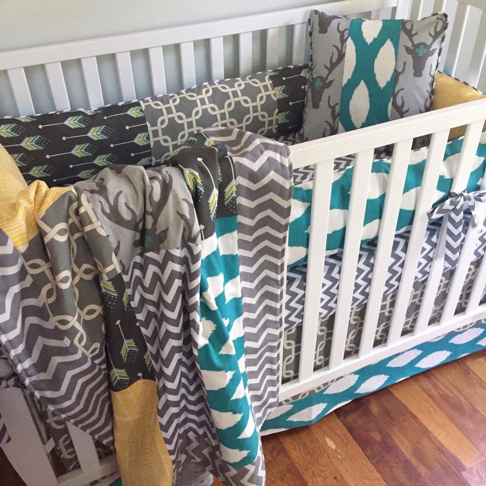Rustic Deer Crib Bedding. Woodland Baby Bedding. Boy Crib ...