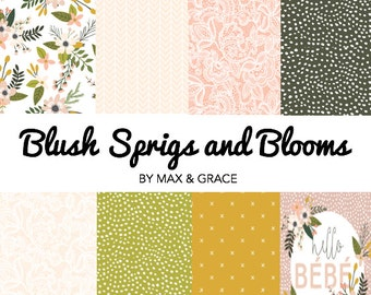 Blush Sprigs and Blooms. Crib Bedding.Lace Nursery Bedding. Floral Nursery Decor.Girl Baby Bedding.Floral Crib Bedding.Crib Sheet.Crib Skirt