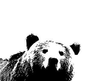 Bear Fitted Crib Sheet. Woodland Nursery. Crib Bedding. Organic Crib Sheet. Nursery Bedding.Hunting Nursery Decor.Baby Shower Gift.Baby Bear