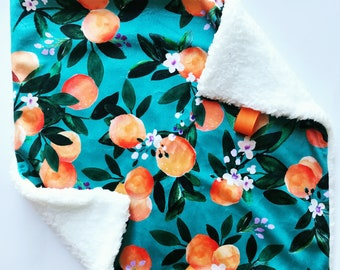 Ready to Ship. Orange Blossom Lovey. Security Blanket. Baby Blanket. Minky Blanket. Gift Under 30. Crib Bedding. Baby Shower Gift.