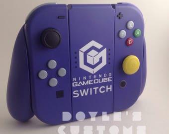 GameCube Switch themed custom joycons made to order!