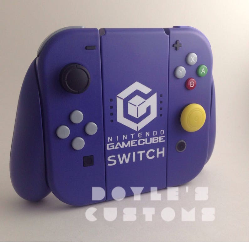66142692ede9bf GameCube Switch themed custom joycons made to order