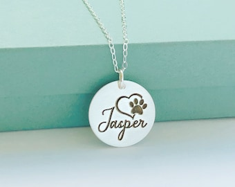 Personalized Pet Name Necklace - Pet Loss Jewelry Gift - Pet Remembrance Jewelry - Cat Dog Loss - Pet Memorial Necklace Jewelry Gift -