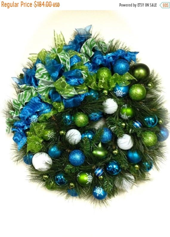 image 0 - Lime Green And Blue Christmas Decorations