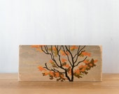 Paint by Number Art Block 'Fall Tree Top' - autumn tree, fall leaves, fall color, vintage art
