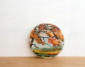 Paint by Number style *FINISHED Circle Art Block 'Autumn Scene' - fall landscape, pastoral, vintage art