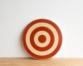 Target #23, Circle Art Block -  Red/White- Wall Decor, Target Art, archery target, bull's eye