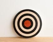 Target #17, Circle Wall Art, Target Art, Wall Decor, Black/White/Red - archery target, bull's eye
