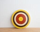 Target #6, Circle Art Block, Wall Decor - Yellow/Brown/White/Red - bull's eye